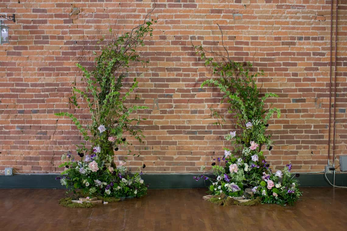Natural Greenery and Flower Wedding Arch