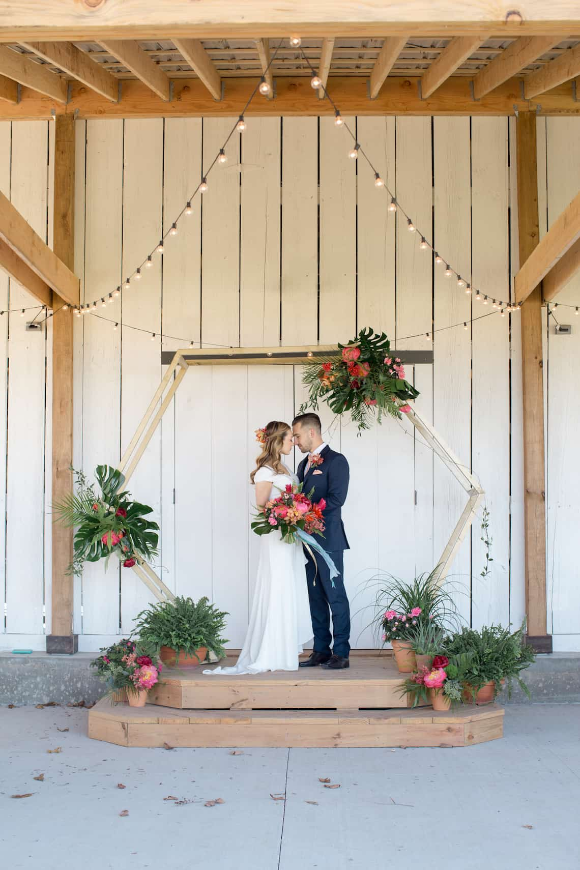 Tropical Barn Wedding in Kansas City