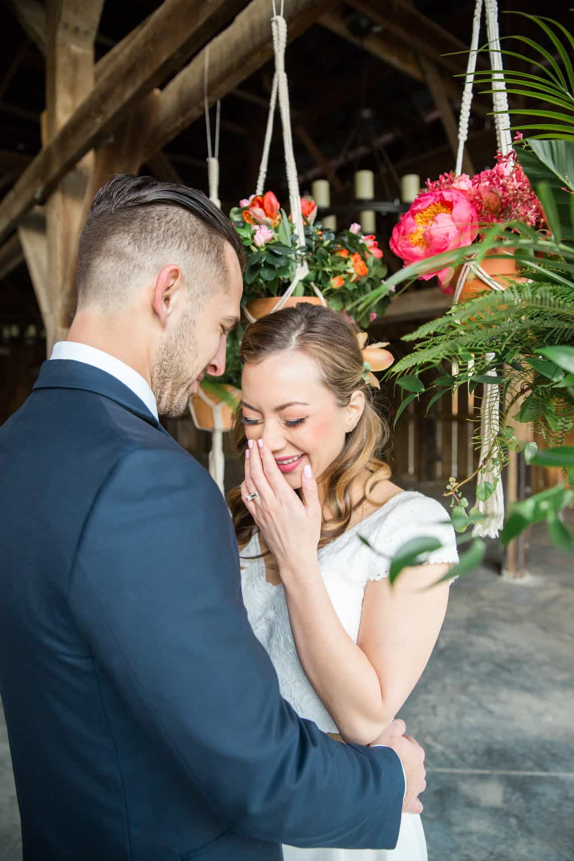 Bride Laughing in Tropical Inspired Shoot