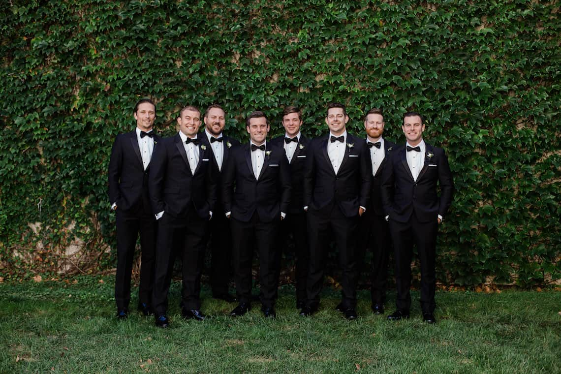 Black Tie Groomsmen Attire