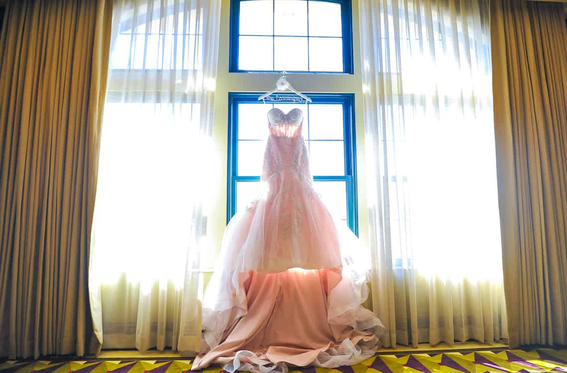Blue Wedding Gown with Lace