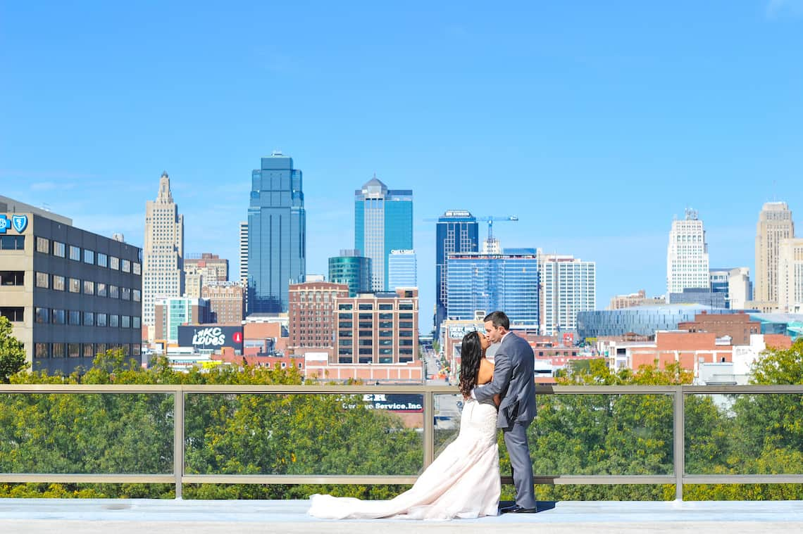 Wedding Kansas City Skyline