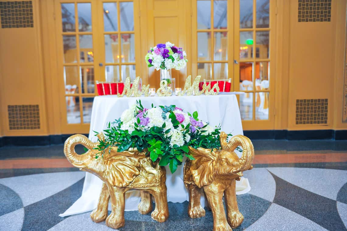 Elephant Wedding Sweetheart Table Decor