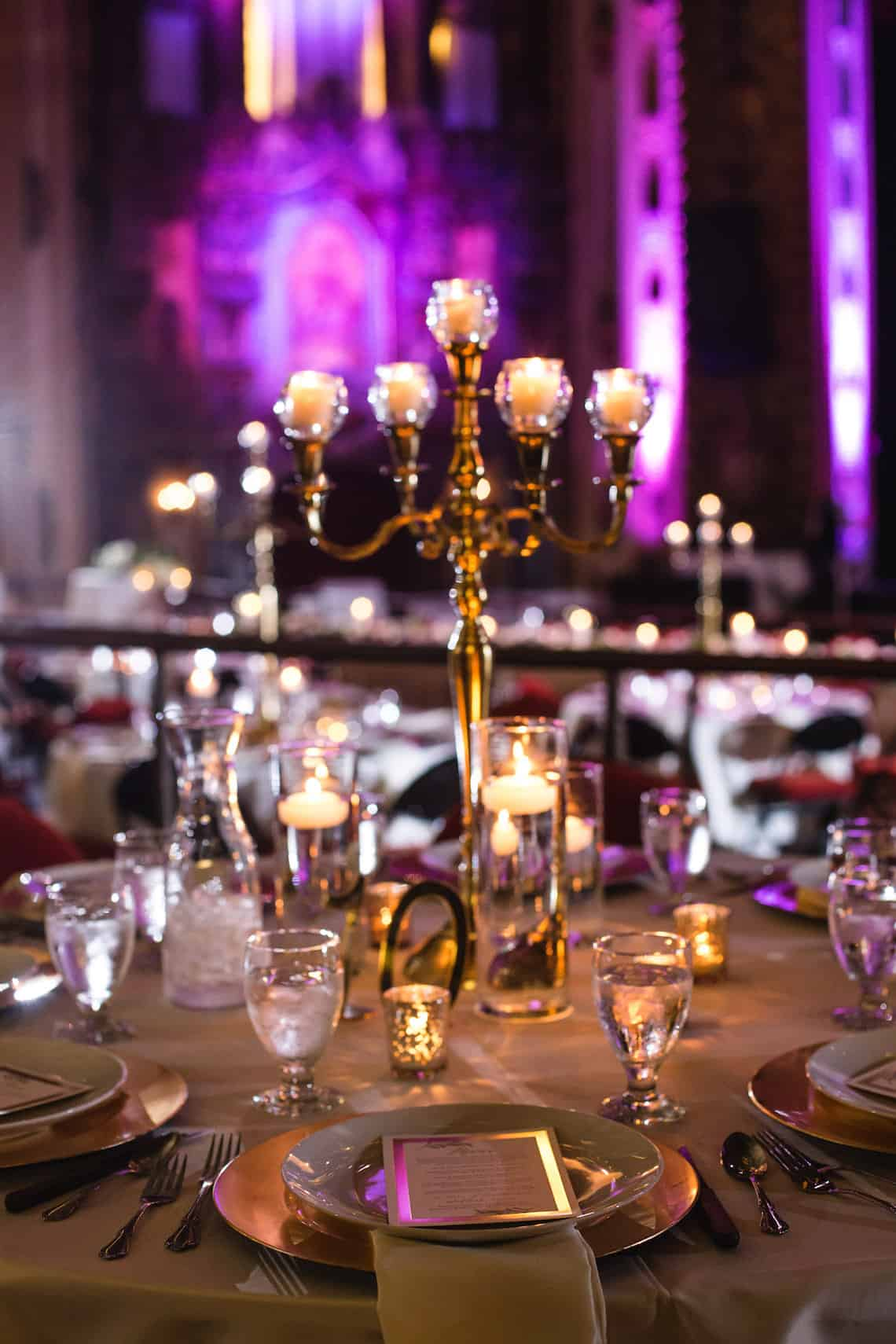 Gold Candle Centerpiece