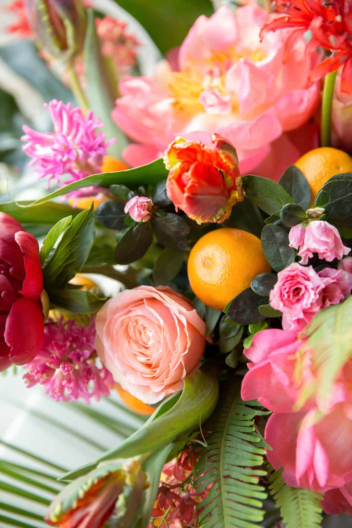 Bright and Bold Wedding Flowers with Citrus Accents