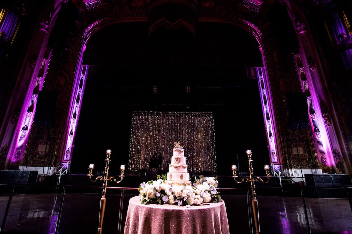 Wedding Cake in Glamorous Old Theater
