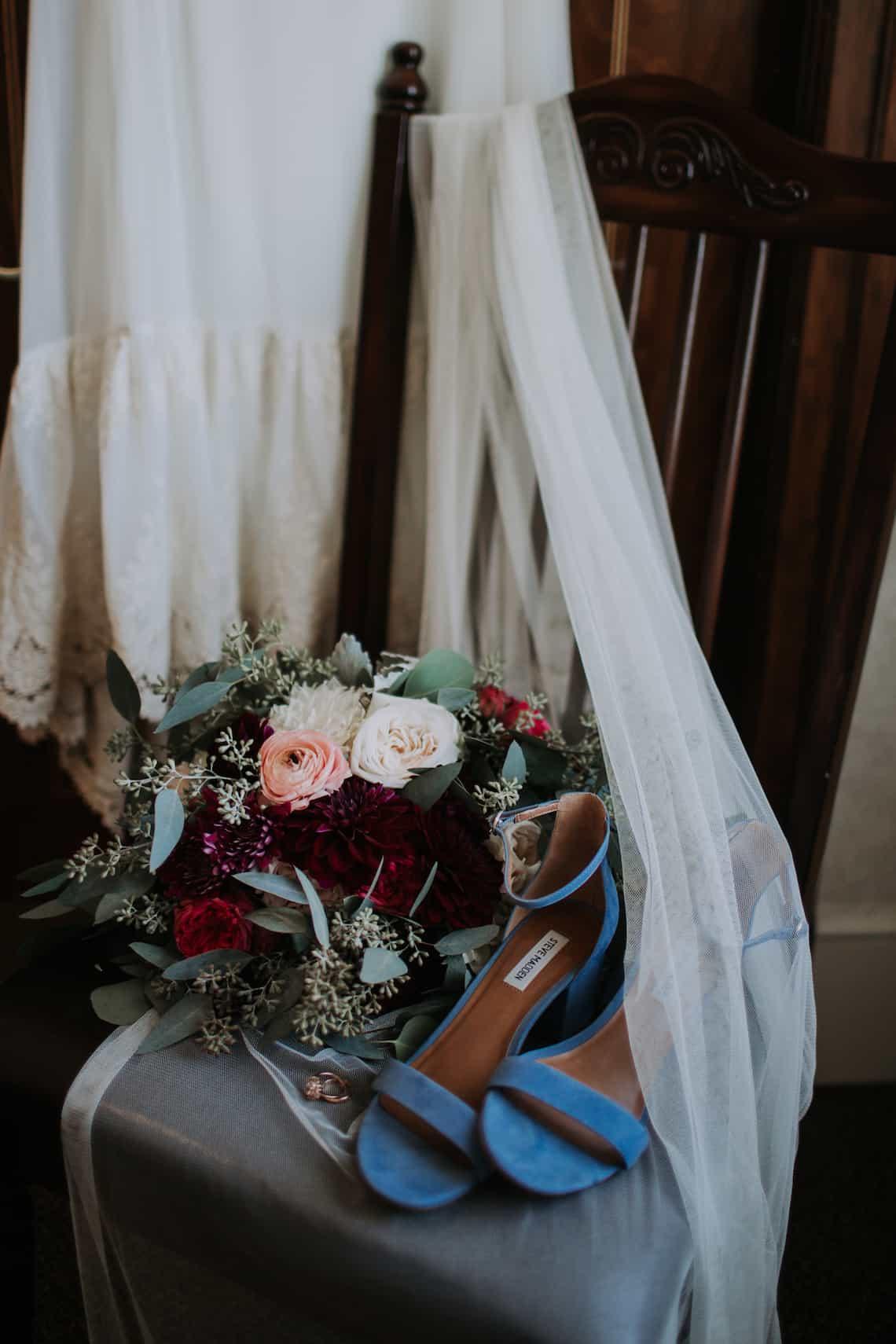 Bride Shoes, Bouquet and Veil