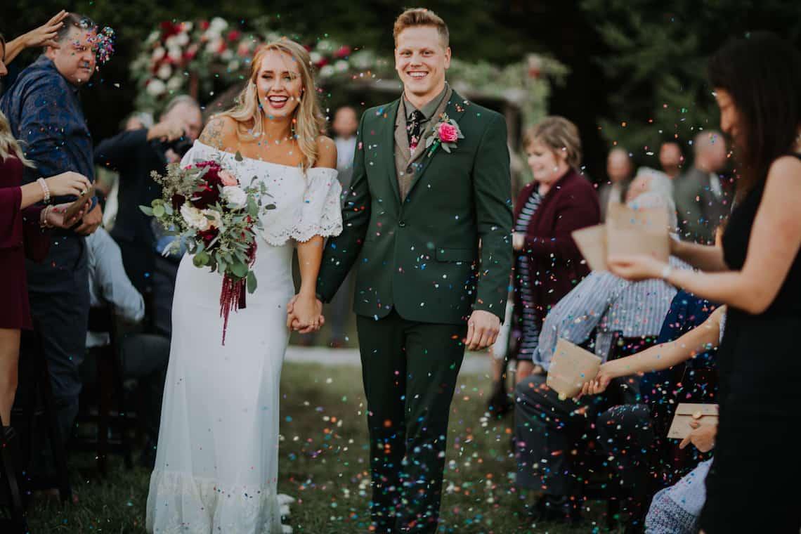Confetti Wedding Departure