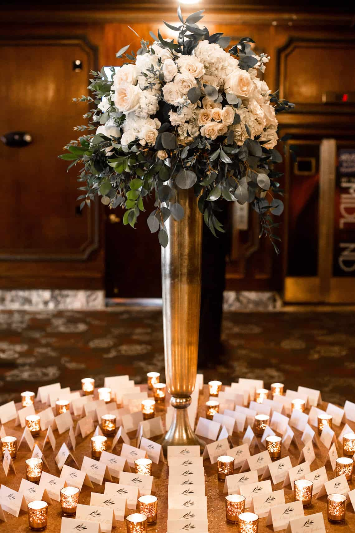 Luxurious Wedding Place Card Display