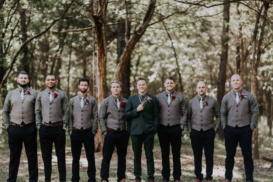 Emerald Menswear with Grey Vests