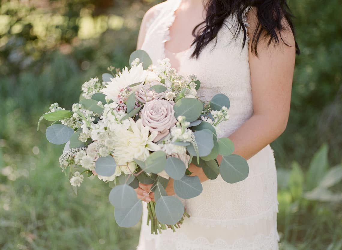 Blush White and Greenery Bouquet