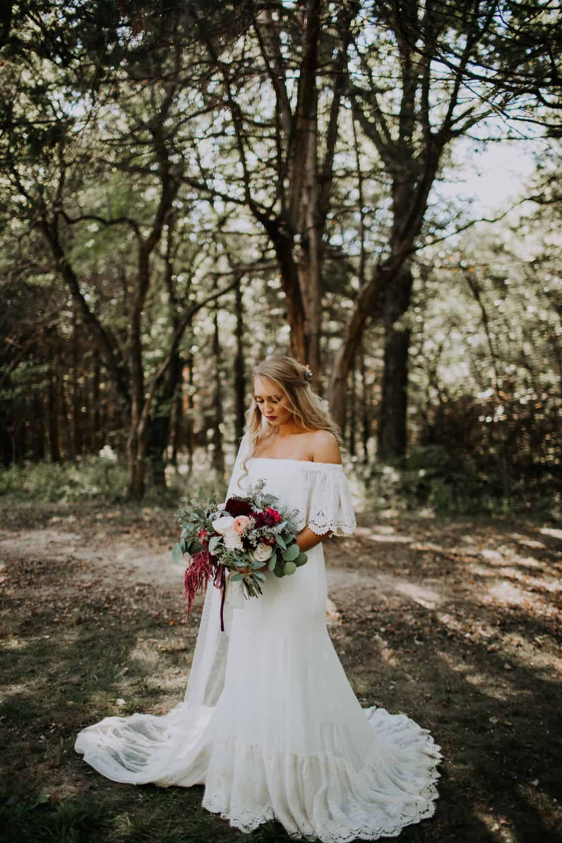 Boho Bride with Beautiful Bouquet