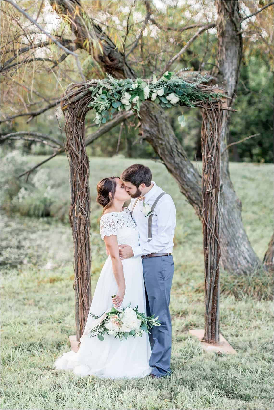 Natural Branch Arch with Accenting Floral