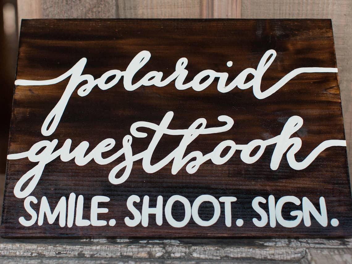 Polaroid Guestbook Sign