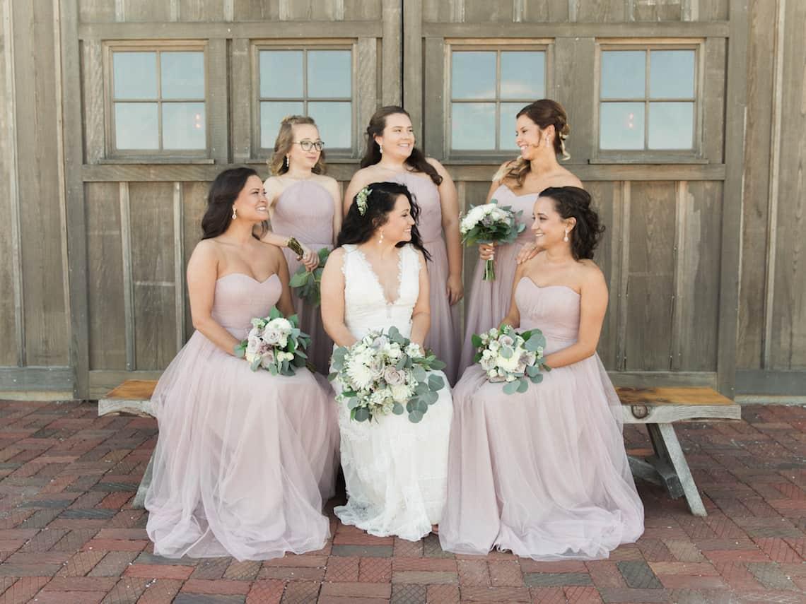 Rustic Blush Bridesmaid Dresses