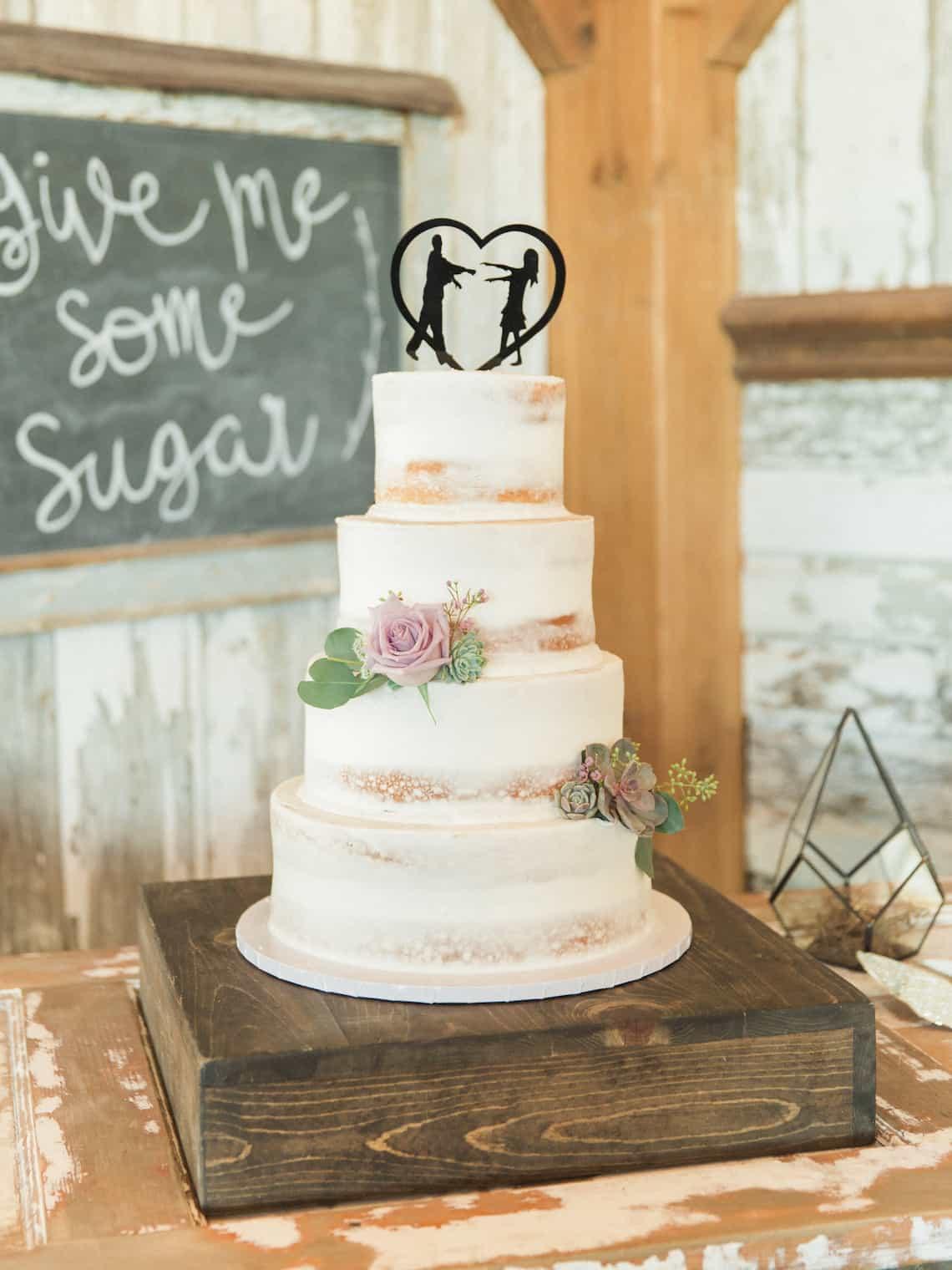 Rustic Classic Wedding Cake