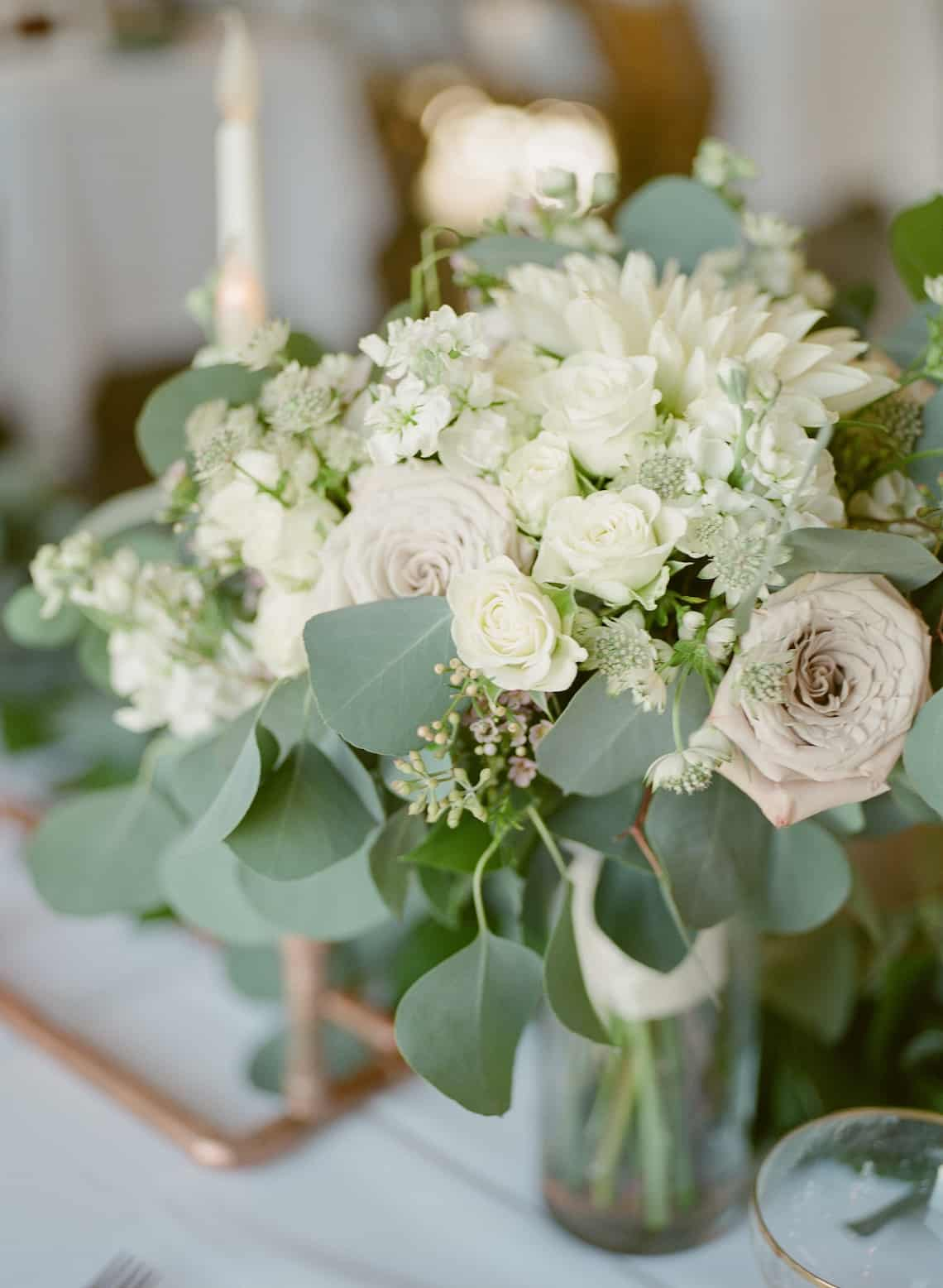 Soft White and Green Wedding Flowers