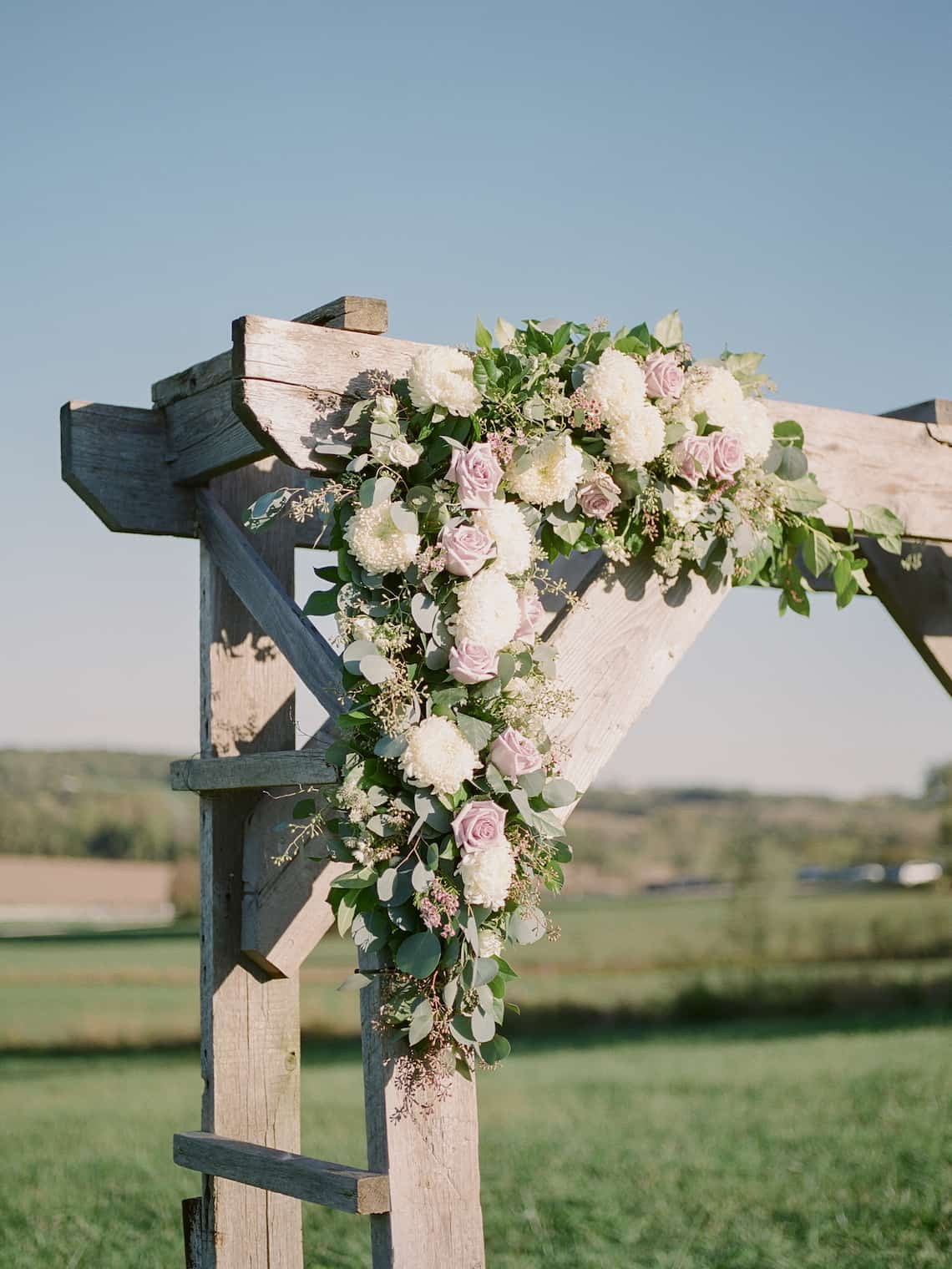 Wedding Arbor with Floral and Greenery