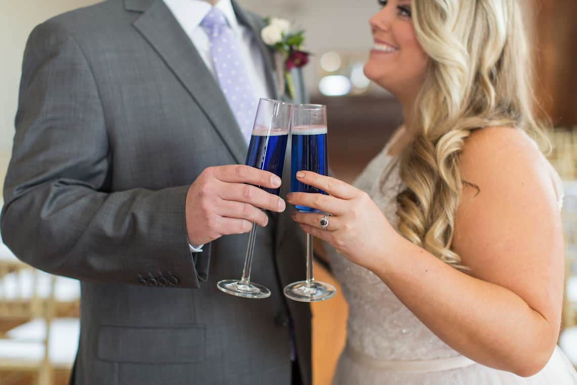 Purple Champagne for Wedding