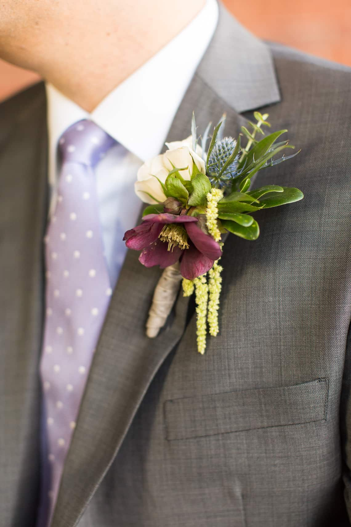Naturally Inspired Groom Boutonniere
