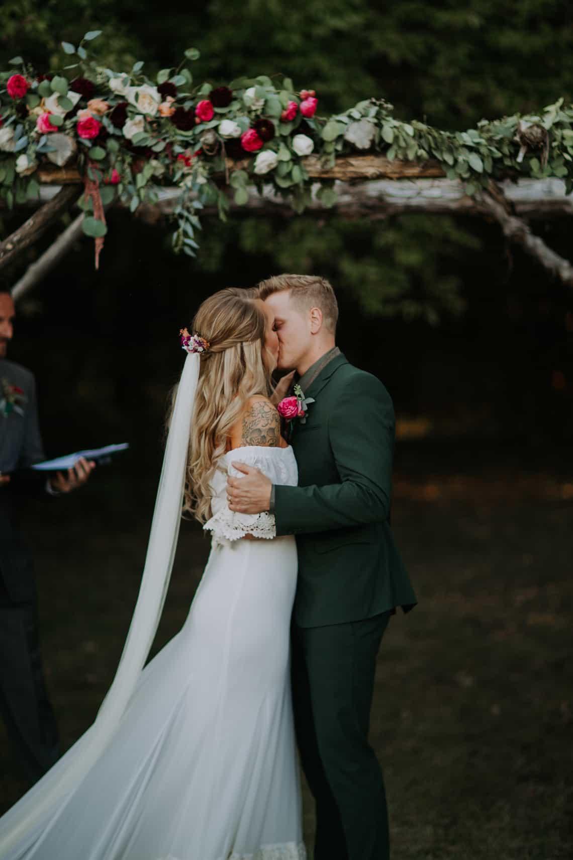 Wedding Dress Boho Off the Shoulder