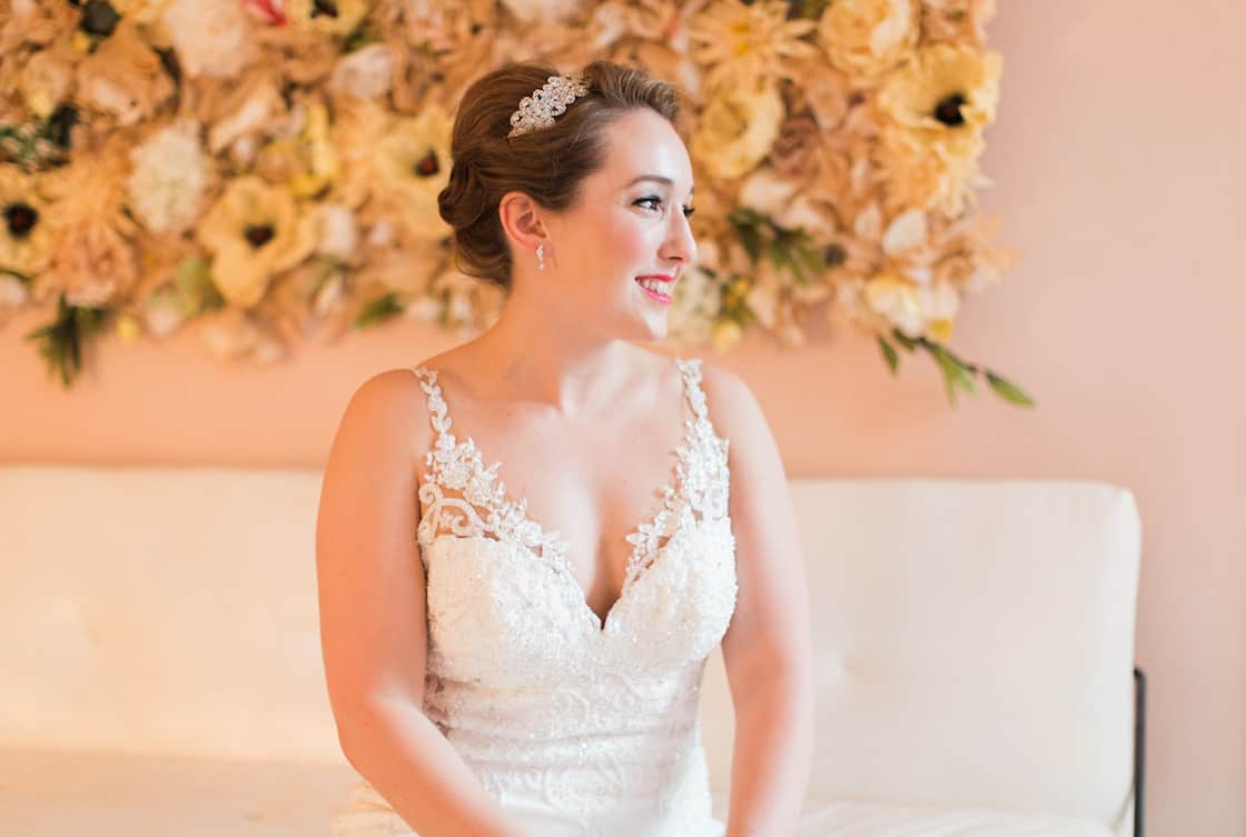 Wedding Gown with Illusion Straps