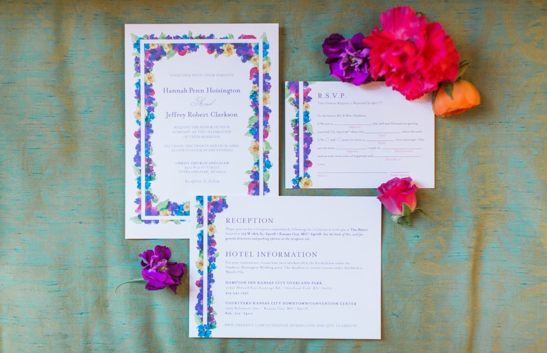 Wedding Invitations - Colorful but Simple