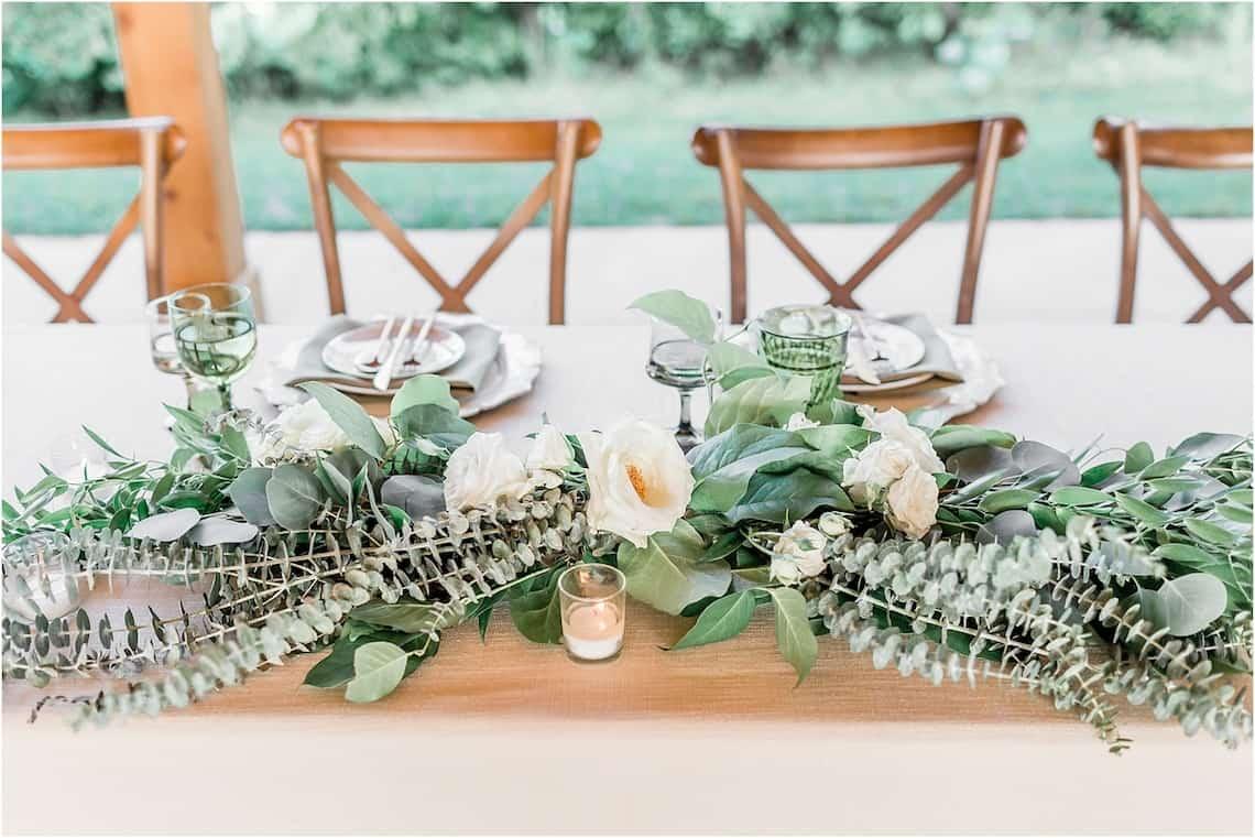Elegant Farm Table for Wedding