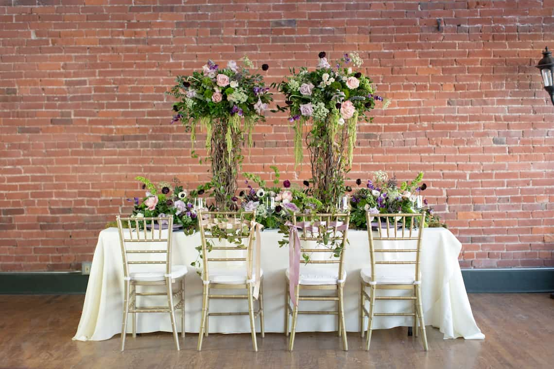 Garden Inspired Wedding Table Decorations