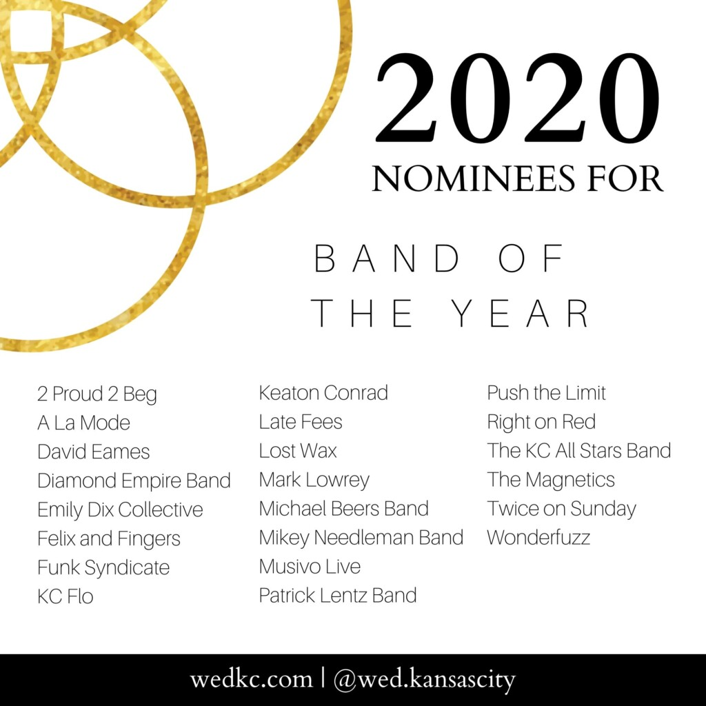 Wed KC Wedding Vendor Choice Awards 2020 Nominees for Band of the Year
