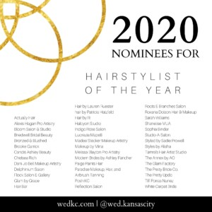 Wed KC Wedding Vendor Choice Awards 2020 Nominees for Hairstylist of the Year