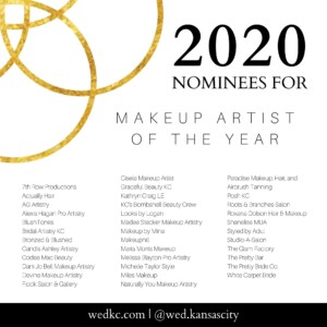 Wed KC Wedding Vendor Choice Awards 2020 Nominees for Makeup Artist of the Year