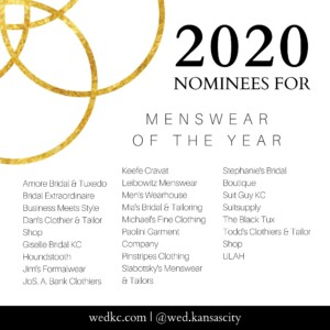 Wed KC Wedding Vendor Choice Awards 2020 Nominees for Menswear of the Year