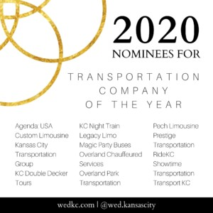 Wed KC Wedding Vendor Choice Awards 2020 Nominees for Transportation Company of the Year