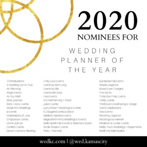 Wed KC Wedding Vendor Choice Awards 2020 Nominees for Wedding Planner of the Year