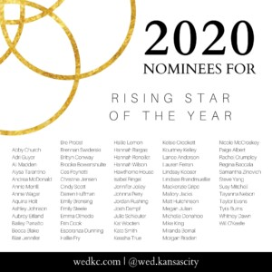 Wed KC Wedding Vendor Choice Awards 2020 Nominees for Rising Star of the Year