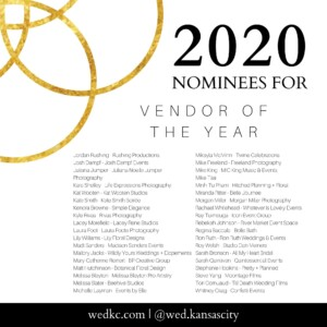 Wed KC Wedding Vendor Choice Awards 2020 Nominees for Vendor of the Year