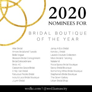 Wed KC Wedding Vendor Choice Awards 2020 Nominees for Bridal Boutique of the Year