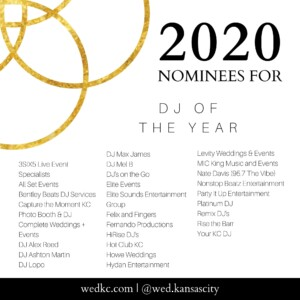 Wed KC Wedding Vendor Choice Awards 2020 Nominees for DJ of the Year