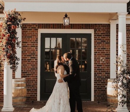 Altar Bridal Wedding Dress Kansas City kiss