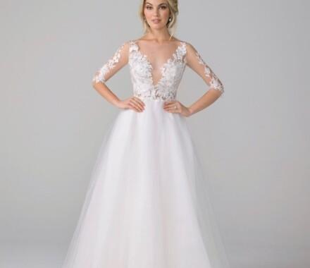 Altar Bridal Wedding Dress Kansas City modeling