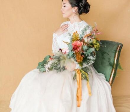 Altar Bridal Wedding Dress Kansas City orange