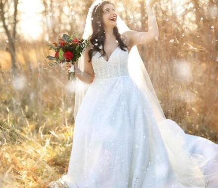 Altar Bridal Wedding Dress Kansas City snow