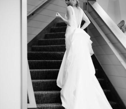 Altar Bridal Wedding Dress Kansas City stairs