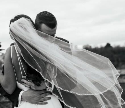 Altar Bridal Wedding Dress Kansas City veil hug