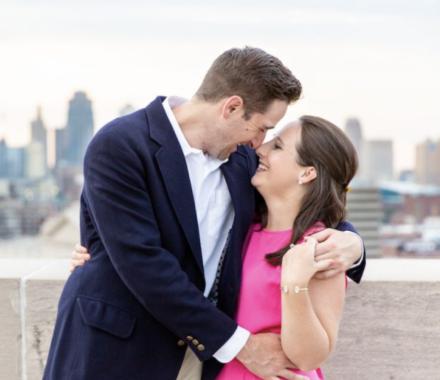 Bailey Pianalto Photography kansas city wedding photographer eskimo kiss