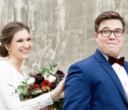 Bailey Pianalto Photography kansas city wedding photographer first look