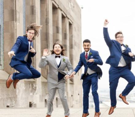 Bailey Pianalto Photography kansas city wedding photographer jump