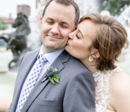 Bailey Pianalto Photography kansas city wedding photographer kiss