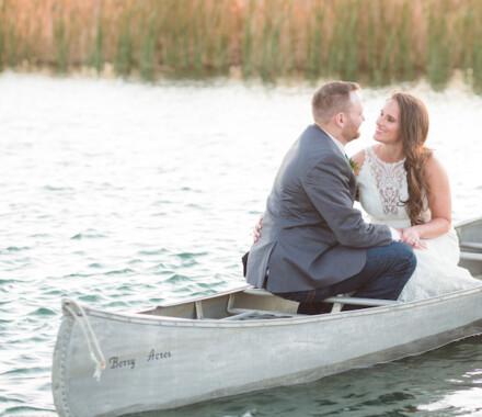 Berry Acres Wedding Venue Kansas City canoe